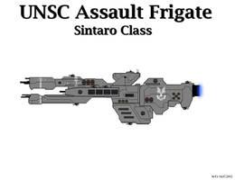 UNSC Assault Frigate - Sintaro Class by Seeras