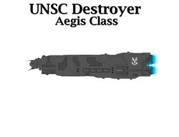 UNSC Destroyer - Aegis Class by Seeras
