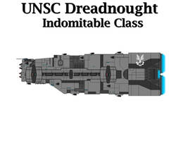 UNSC Dreadnought - Indomitable Class by Seeras