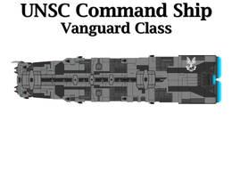 UNSC Command Ship - Vanguard Class by Seeras