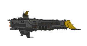 Warhammer 40K Divinity Class Battleship by Seeras