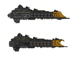 Warhammer 40K Faith Class Cruiser by Seeras