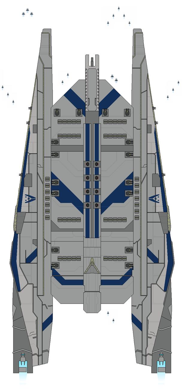 Mass Effect Von Braun-class Carrier by Seeras