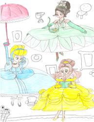 Floating Disney Princesses 1 by Aquateen510