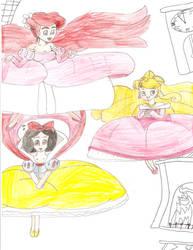 Floating Disney Princesses 2 by Aquateen510