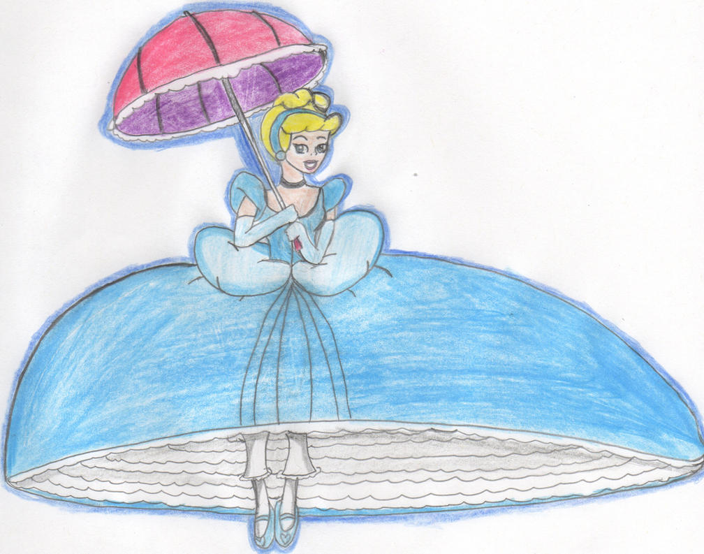 Alice Parachute Dress Deviantart: Parachuting Cinderella By Aquateen510 On DeviantArt