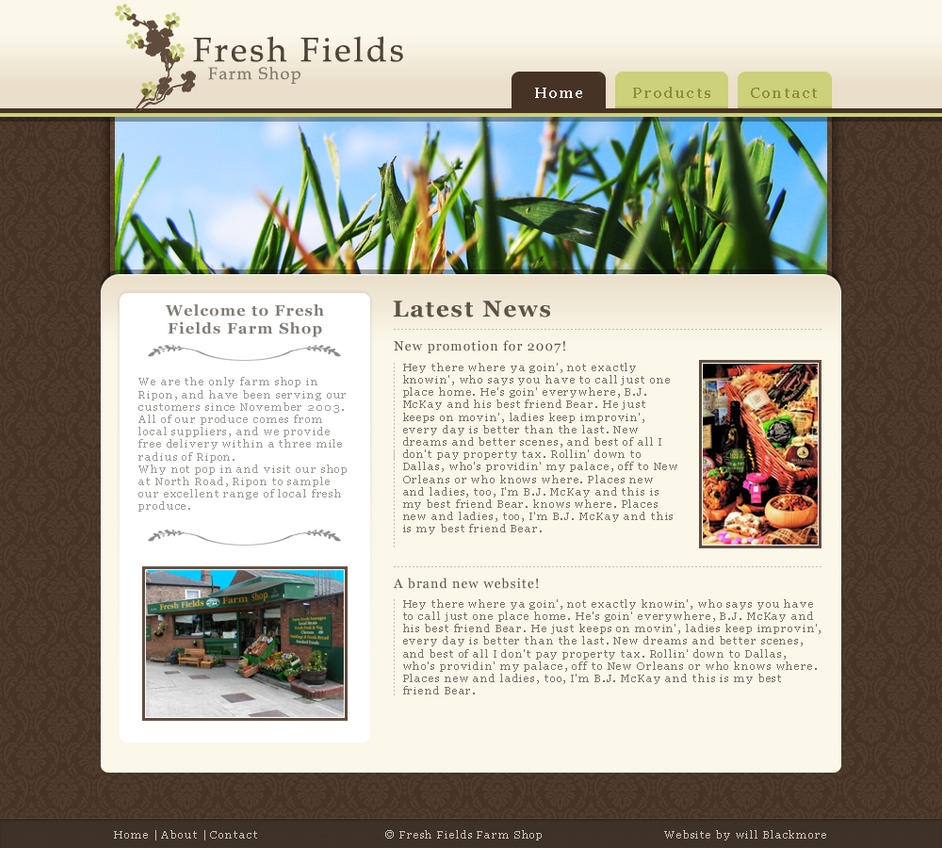 Fresh Fields Farm Shop by willdesign