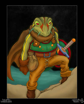 Frog Warrior colored