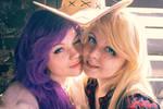 AppleJack x Rarity cosplay by Bizarre-Deer