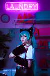 Hatsune Miku Nekomimi Switch Cosplay