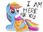 Rainbow and Scootaloo - I Am here for you