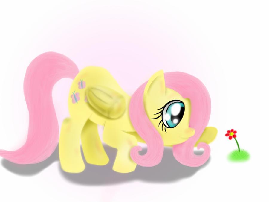 Fluttershy's Flower (speedpaint) by GromekTwist
