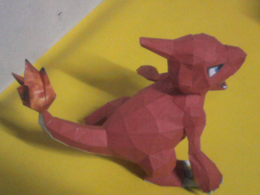 charmeleon papercraft by rafex17