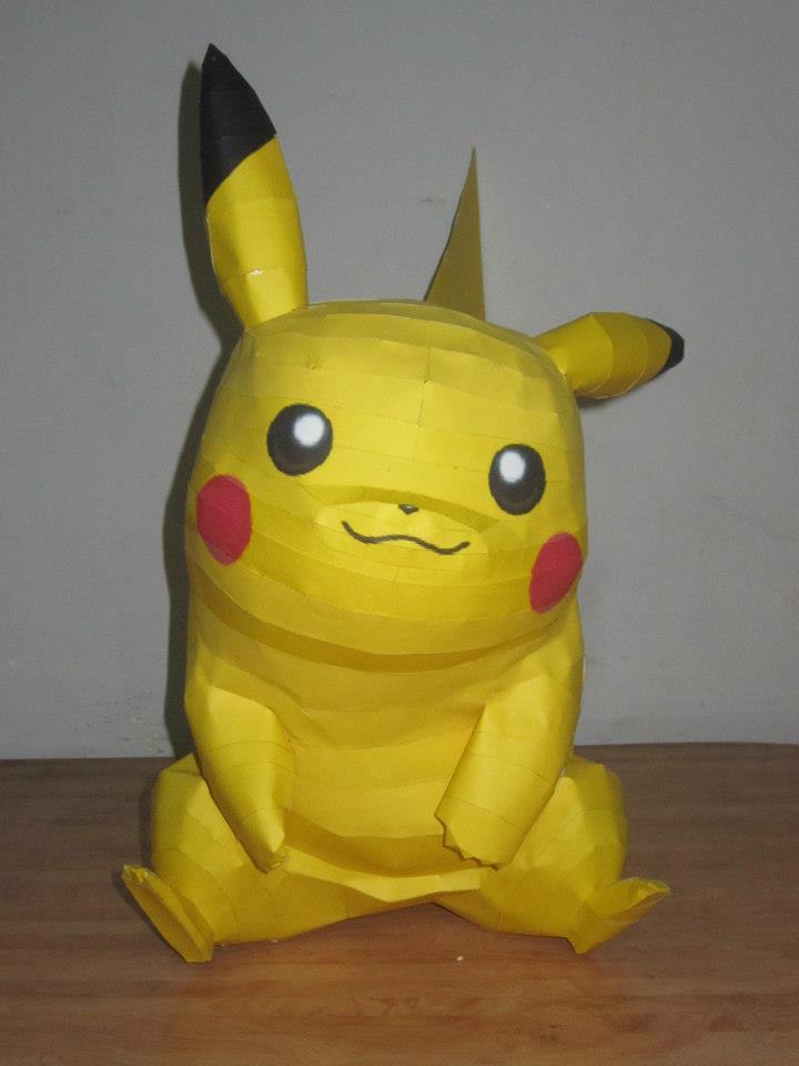 Perfecto Plantilla De Pikachu Papercraft Ornamento - Colección De ...
