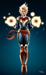 Captain Marvel Carol Danvers by Arkenstellar
