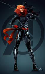 Black Widow Natasha Romanoff by Arkenstellar