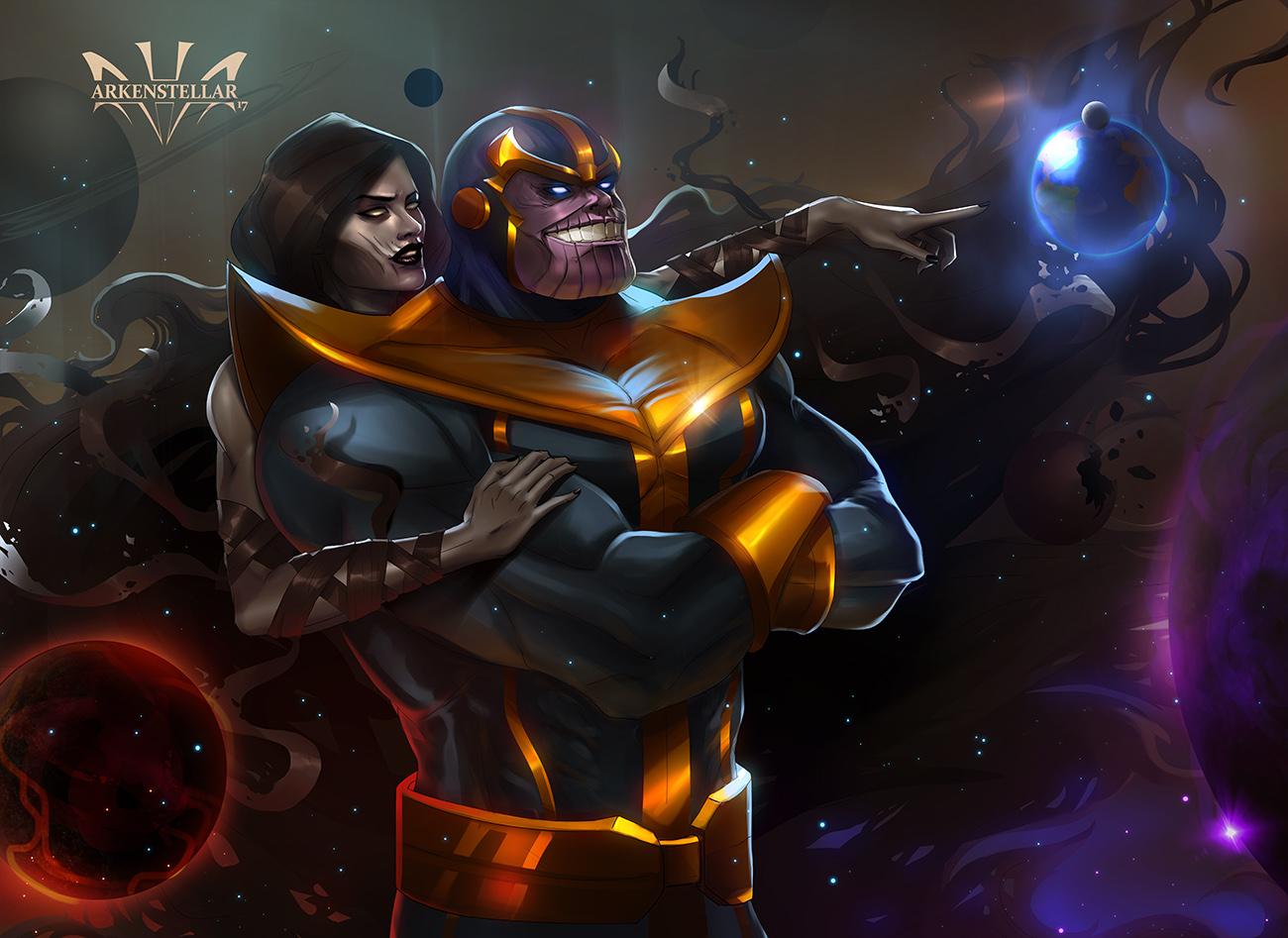 Thanos And The Death By Arkenstellar On Deviantart
