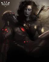 Wonder Woman  Cyborg by Arkenstellar