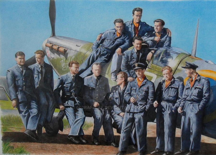 Zumbach's boys {303 Squadron, Kenley, 1942 } by 602RAFPuff