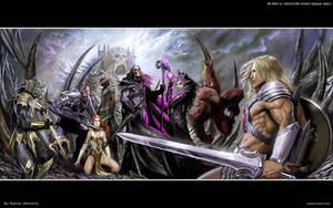 He-Man vs Skeletor by batwolverine