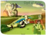 Toph and Aang by Bizmarck