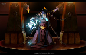 Azula -Im free- colored by avatar-fan
