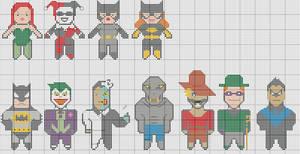 Batman TAS cross stitch
