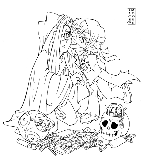 Line Art Halloween : Saiedo halloween line art by jacemoore on deviantart