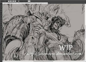 WIP#2 sketch - Meet The Devil by jacemoore