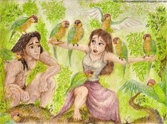 Tarzan y Jane/Tarzan and Jane by vegetanivel2