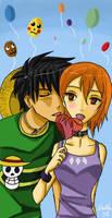 Luffy x Nami : Lollipop by PokuPoku