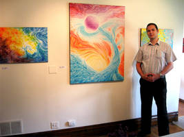 Me at my first solo show by giorjoe