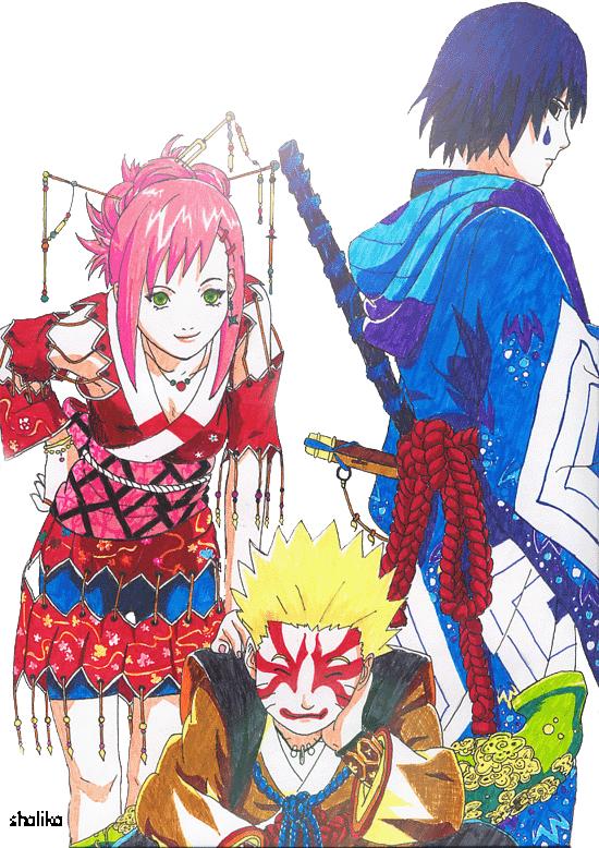 sakura sasuke naruto by kun-bertopeng