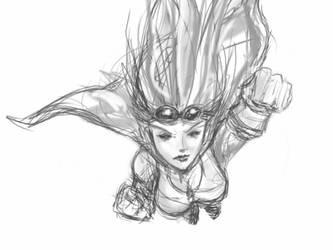 First sketch on my new iPad by CRSLozada