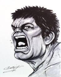 Hulk Sketch by CRSLozada