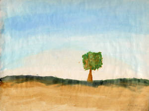 Watercolor tree