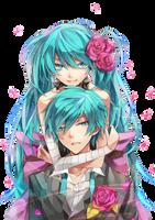 Hatsune Twins Render by zombieusagi