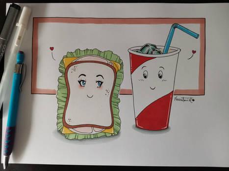 Sandwich and Coke