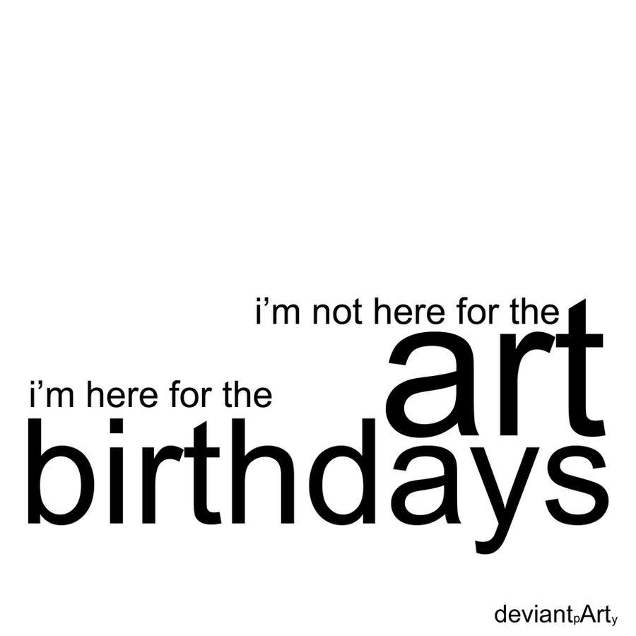 birthdays by davespertine