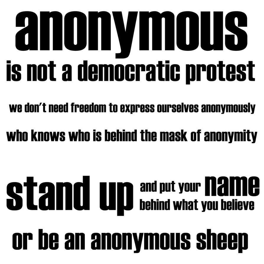 anonymous by davespertine