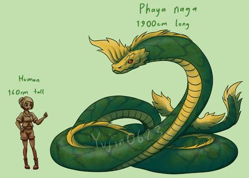 Phaya naga and human