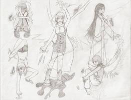 Female Sketches by DuhQueenMoki