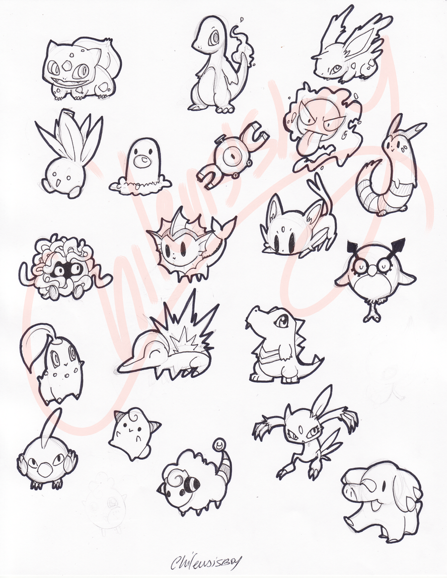 pokemon stickers by despreocupabloart