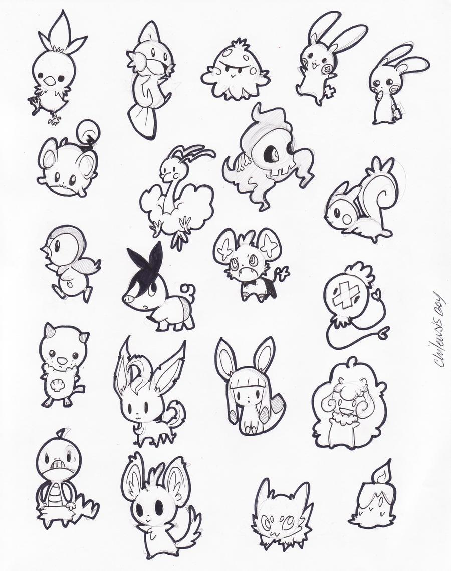 pokemon stickers 2 by despreocupabloart