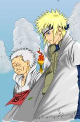 Minato and Sarutobi by Lawrachan