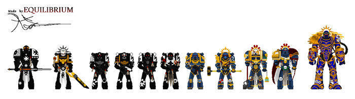 Adeptus Astartes and Guiliman BY EQUILIBRIUM by Agent3quilibrium