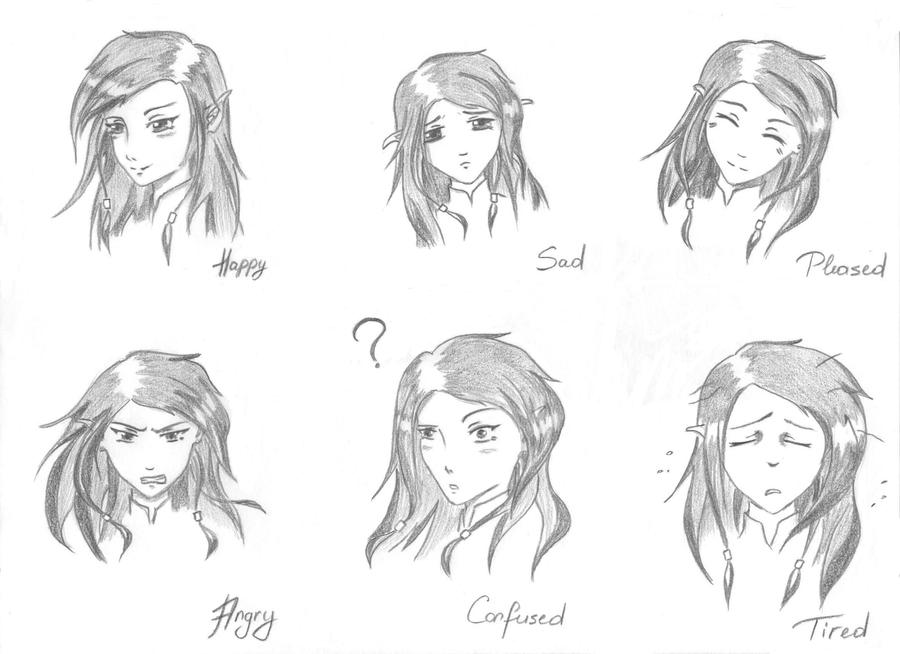 Facial expressions_part 1 by Ashadria