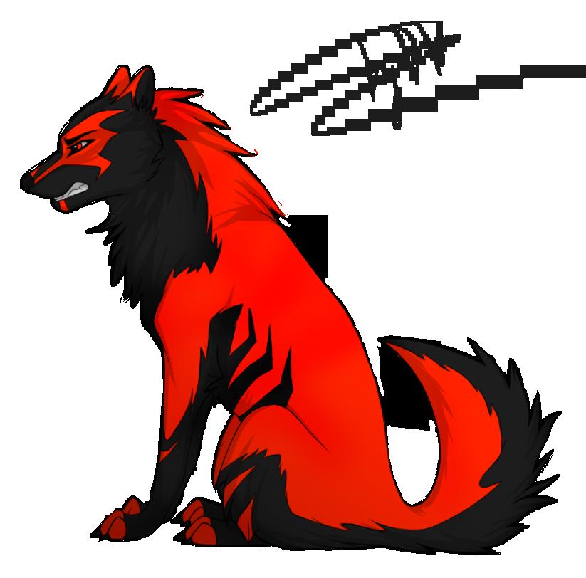black red wolf by desperatewolfy on deviantart