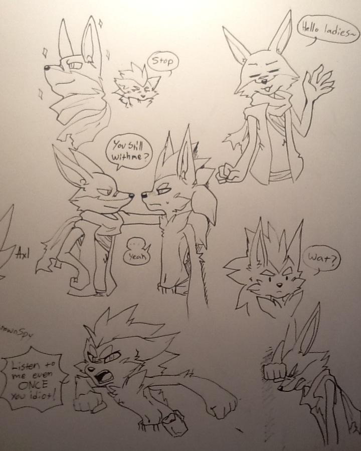 Axl n Dan Doodles by UnknownSpy