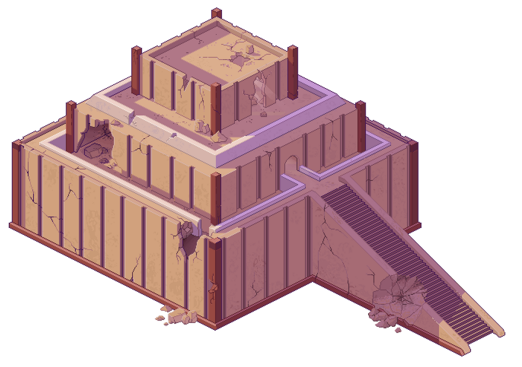 mesopotamian inspired pixel building by unknownspy on deviantart